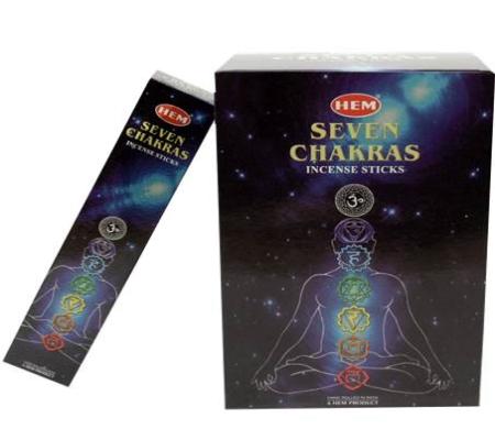 Räucherstäbchen  für alle   7 Chakras